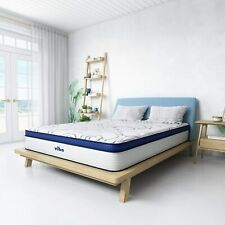 """Vibe Quilted Gel Memory Foam & Innerspring Hybrid Pillow Top 12"""" Mattress Queen"""