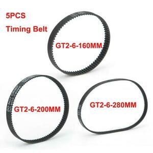 GT2 Timing Belt GT2-6-160MM/200MM/280MM Synchronous Belt for 3D Printer Part WYD