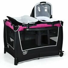 4 in 1 Convertible Portable Baby Playard w- Toys & Music Center