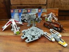 Lego Star Wars Mini Building Complete Set 4488 4489 4490 4491 + Y Wing - 2003