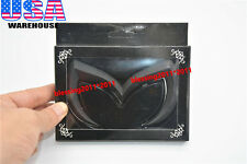 10-13 MAZDA3 MAZDASPEED3 EVIL 'M' REAR TRUNK EMBLEM BADGE MATTE BLACK UNIVERSAL