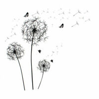 Dandelion Butterfly Pattern Wall Sticker Removable Art Decal for Living Room Bed