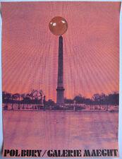 BURY POL AFFICHE 1971 TIRÉ EN LITHOGRAPHIE MAEGHT ARTE PARIS LITHOGRAPHIC POSTER