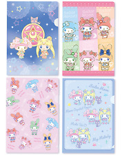 💕sailor moon my melody 7eleven japan limited file folder set of 4 A5 Sanrio