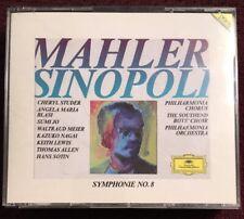 SEALED DGG DIGITAL Mahler SINOPOLI Symphony No. 8 STUDER (2 CDs, 1992) D-270085