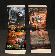 Lot of 4 Fantasy books w/ Women Heroes - Magic to the Bone, On the Edge - PB 1st