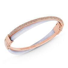 Michael Kors Bracelet MKJ5184791 Pave Rose Gold Tone Wisteria Bangle Agsbeagle