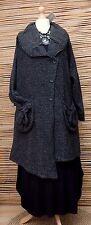 Lagenlook * KEKOO * magnifique asymétrique 2 poches veste/manteau * noir * taille 46-48