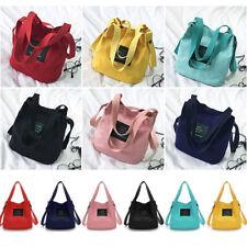 e2a58ed27cf New Women s Canvas Black Handbag Shoulder Messenger Bag Satchel Tote Purse  Bags