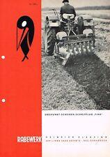 Rabewerk Dreipunkt- Scheiben- Schälpflug Fink, orig. Prospekt 1968