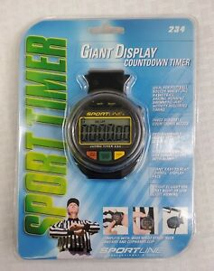 Sportline Giant Display Stop Watch Countdown Timer w/ Wrist Strap/Lanyard
