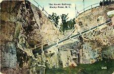 Closeup View of the Scenic Railway, Rocky Point Amusement Park, Warwick RI 1915