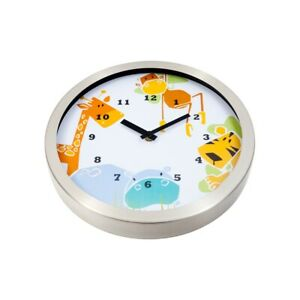 Tik Tok Animals Clock 30Cm Metal In Silver