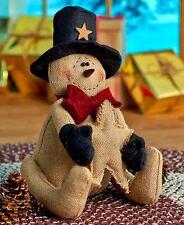 Country Burlap Snowman Christmas Home Decor