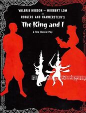 "Rodgers & Hammerstein ""KING AND I"" Valerie Hobson 1953 London Souvenir Program"