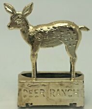 Vintage San Diego Zoo Souvenir Pencil Sharpener Metal Die Cast Deer Ranch