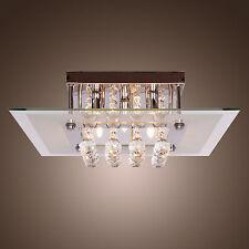 Modern Crystal Ceiling Lighting Chandelier  Light Lamp Pendant Fixture Clear