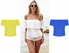 Waist Length Ruffle Unbranded Blouses for Women