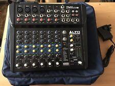 Alto ZEPHYR ZMX122FX 8 Channel compatto PA Mixer scrivania Alesis FX Reverb con Custodia/Borsa