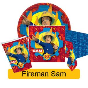 FIREMAN SAM - Birthday Party Range  - Tableware Balloons & Decorations