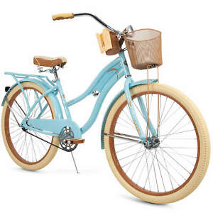"""Huffy 26"""" Nel Lusso Women's Classic Cruiser Bike with Perfect Fit Frame [BLUE]"""