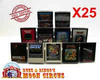 25x ATARI 2600 GAME CARTRIDGE CLEAR PLASTIC PROTECTIVE BOX PROTECTOR SLEEVE CASE