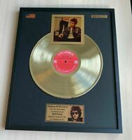 Bob Dylan Highway 61 Revisited 1965 Vinyl Gold Metallized Mounted Record