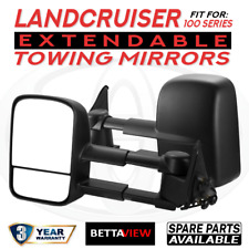 BettaView Extendable Caravan Towing Mirrors Toyota Landcruiser 100 Series Black