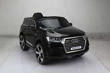 Kids Black Audi Q7 Car 1 Seater Sit and Ride  Electric Parental Control 12V LED
