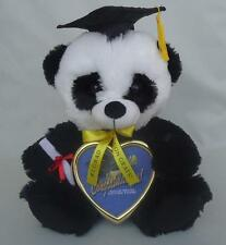 "Graduation Panda with Cap, Diploma & Solid Brass Picture 10"" Inches New with Tag"