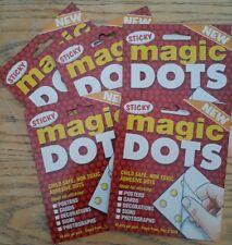240 Magic Sticky puntini (5 CONFEZIONI) sottili come carta, cartoline di Natale, artigianato, Foto'S