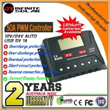 Professional Industrial Grade*50A 12/24V PWM Solar Charge Controller Regulator