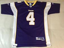 NWOT Authentic Sewn Reebok Minnesota Vikings Brett Favre Jersey Youth Large