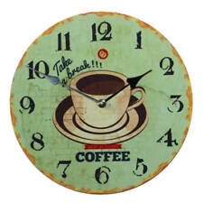 """Reloj de pared 30cm con fijación en Madera Café Diseño"""" besti Town"""" Vintage"""