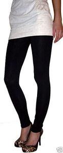 LONG LENGTH Leggings Pant Viscose Stretch BLACK Size 6 8 10 12 14 16 18 20 22