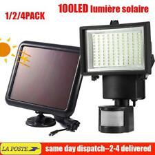 2/4XLED Lampe Solaire Projecteur Lumière Jardin Extérieur Détecteur de Mouvement