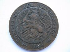 Netherlands 1882 bronze 2 1/2 Cent GF