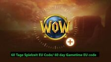WoW 60 Tage Spielzeit EU Code/World of Warcraft 60 day Gametime/Gamecard EU Code