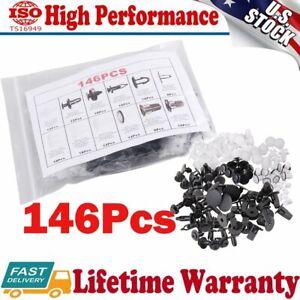 146Pcs Plastic Fender Liner Fastener Rivet Push Clips Retainer For Toyota Series