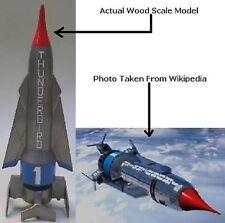 Thunderbird 1Hypersonic Rocket Airplane Desktop kiln Dry Wood Model Large