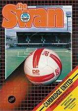 Swansea City v Cambridge Utd  4 Nov 1986 FOOTBALL PROGRAMME