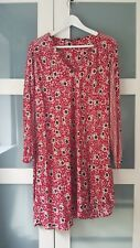 ZARA L red Pattern Print Dress Asymmetric Knee Length Summer Loose Breezy