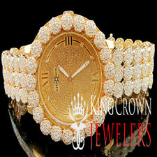 Genuine Diamond Mens Khronos Joe Rodeo Rose Gold Finish Cluster Custom Watch Icy