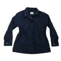 Old Navy Womens Small Blue Drawstring Waist Light Weight Zip Front Jacket NEW