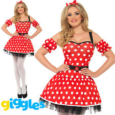 Fever Miss Minnie Costume Womens Ladies Storybook Sexy Mouse Fancy Dress Outfit
