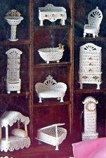 Victorian Crochet Miniatures Furniture Pattern Book -  10 Designs