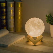 3D Moon Lamp USB LED Night Light Moonlight Gift Touch Sensor Color Changing NEW