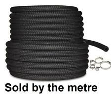 """Van Jeep 6mm 1/4"""" Rubber Braided Hose Pipe Fuel Petrol Diesel Injection + Clips"""