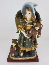 """Vintage Angel Girl With Teddy Bear 14"""" Tall Porcelain"""