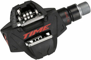 """Time ATAC XC 8 Pedals - Dual Sided Clipless, Carbon, 9/16"""", Black/Red"""